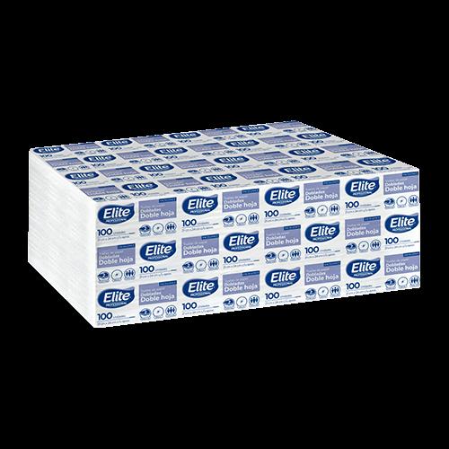 Toalla Interdoblada Elite® Blanca H/D 21x24 Cms. 20x100